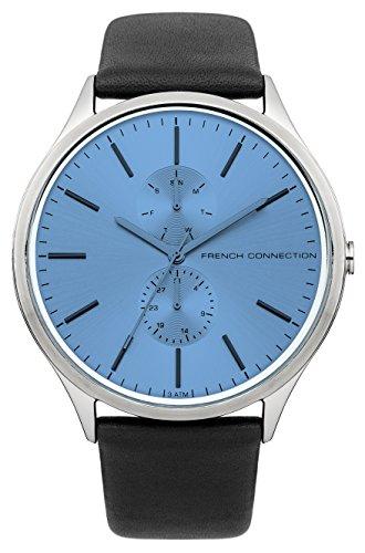 French connection hombre-reloj analógico de cuarzo cuero Lambert FC1222U