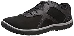 Clarks Womens Aria Lace Walking Shoe, Black Leather, 9 M US