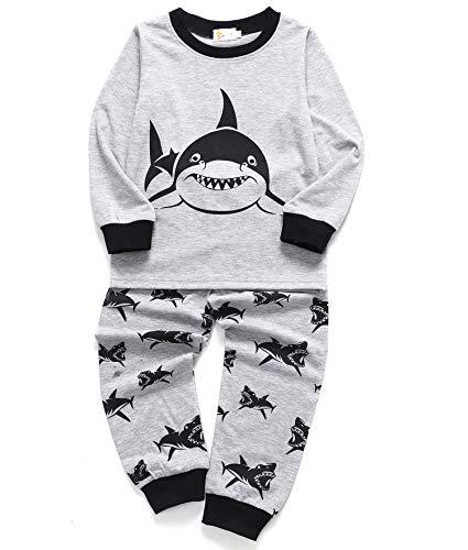 Tarkis Jungen Pyjamas, Kinder Dinosaurier Pyjamas Sets Lange Ärmel Kinder Kleidung Set Jungen Baumwolle Kleinkind Pjs Nachtwäsche für Alter 1-6 Jahre