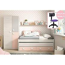 Amazones Dormitorios Juveniles Infantiles - Habitaciones-infantiles-en-blanco