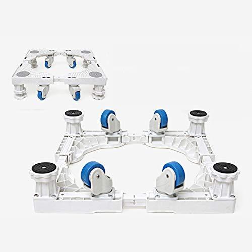 Waschmaschine Sockel Multifunktionale Roller Rack Kühlschrank Base Bügel Stativ Mobile Universal Wheel,SteelPipeSixFeetFixed (Doppel-platte Bügel)