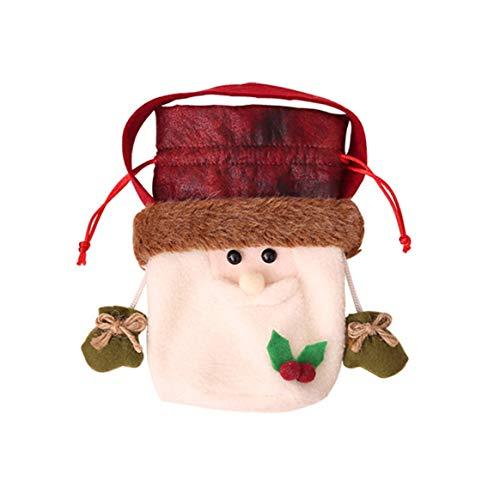 Weihnachtsapfel-Tasche Weihnachtsweihnachtsmann-Schneemann-Elch-Bärn-Geschenk-Apfel-Tasche Weihnachtstaschen-Süßigkeit-Geschenktasche für Festival Weihnachten deko