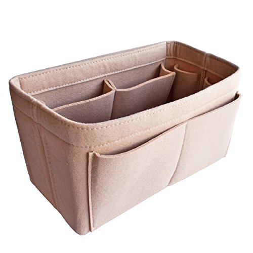 HyFanStr Taschenorganizer Bag in Bag Handtaschen Organizer Filz Taschen Organisator Innentaschen Beige L