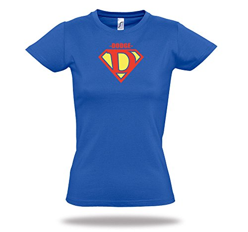 dodge-tuningtreff-damen-shirt-superman-letters-abc-funshirt-blue-black