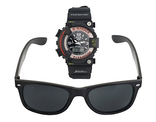 BLUE DIAMOND combo offer digital plus analogue watch and wayfarer black for mens and boys