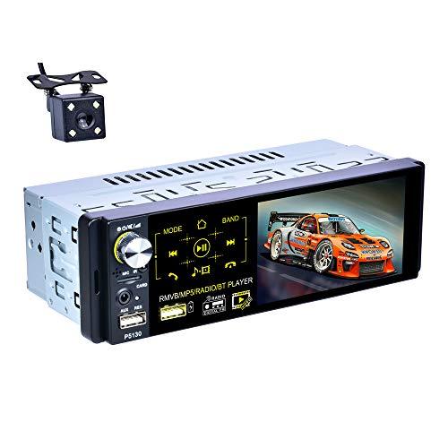 X-REAKO autoradio 1 DIN Touch Screen 4.1 pollici Radio Car Vivavoce Bluetooth FM/Am/RDS AUX TF Controllo remoto USB Lettore video MP5 per auto