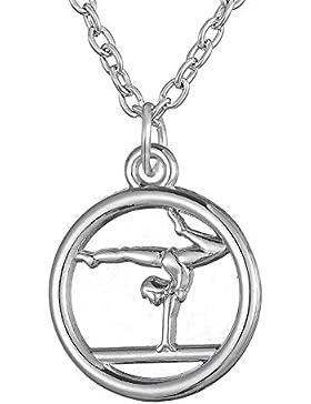 Gymnastik Anhänger trendige Halskette für Mädchen