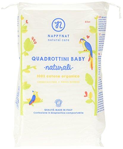 Nappynat Quadrottini Baby Cotone Organico - 60 (Biodegradabile Cotone)