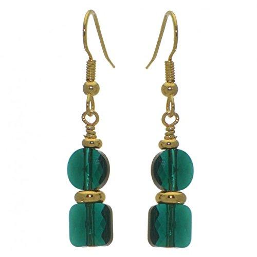 aragd Haken Ohrringe (Emerald Green Ohrringe Modeschmuck)