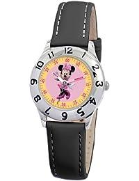 Disney 0803C009D819S006 - Reloj unisex de cuarzo, correa de piel color negro