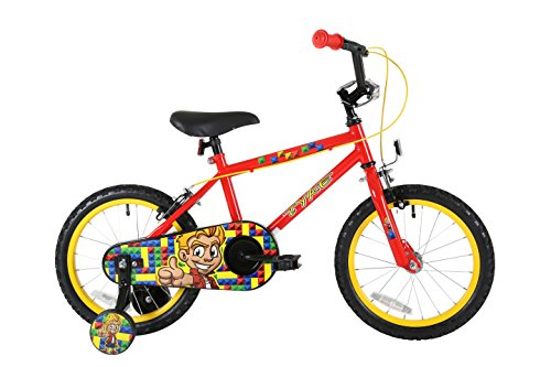 Sonic Belle Boy's Kids Bike Red 1 speed colour cordinated spoked wheels fully enclosed chainguard and easy reach brakes Best Price and Cheapest