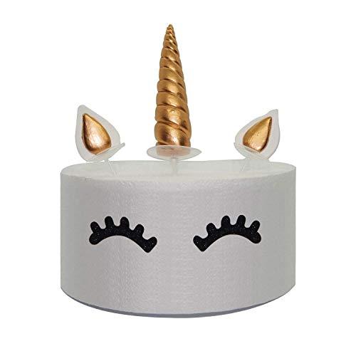 Juego de decoración de unicornio dorado para pasteles, incluye cuerno, orejas y pestañas