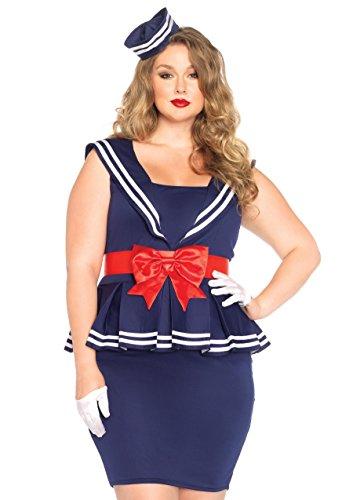 Leg Avenue 85403X - Aye Aye Amy Damen kostüm, Größe 1X-2X ( EUR 44-46) (Kostüm Schuhe Seemann Halloween)