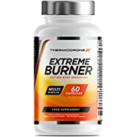 Extreme Burners for Men and Women - 60 Vegetarian Capsules - UK Made - Premium Safe Legal Metabolism and Energy Support - Vegan Friendly - Order From A Trusted UK Brand Thermodrone