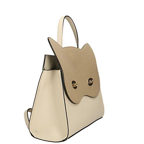 Comprar Barato 2018 Unisex Perfecta La Venta En Línea Chicca Borse Handbag Borsa a Mano in Vera Pelle Made in italy - 32x28x13 Cm Beige - Taupe Buscando El Precio Barato TwWnHu