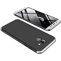 Ultra-dünne Case Cover für Galaxy A6 2018, KeKeYM Hart PC 360 Grad Schutz 3 in 1 Kombination Anti-Scratch PC Full Body Schutz Stoßfest Abnehmbare Stoßfest Schutzhülle für Samsung Galaxy A6 2018 - Schwarz / Silber