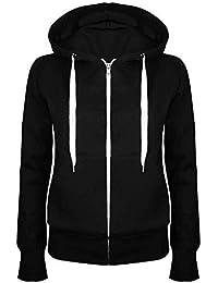 3e6cac283cfa Oops Outlet Damen Einfarbig Kapuzenpulli Mädchen Reißverschluss Top Damen  Kapuzenpullis Sweatshirt Mantel Jacke Übergröße 6-24…