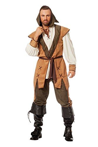 Karneval-Klamotten Robin Hood Kostüm Herren-Kostüm Karneval Mittelalter Räuber Herrenkostüm Größe 50
