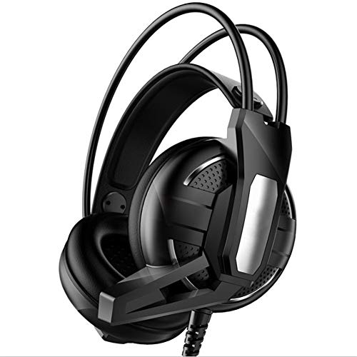 WAWRR Computer-Headset, Subwoofer 7.1, Computer-Gaming-Headset, Stereo, USB, Computer-Headset mit Geräuschunterdrückung