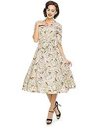 Ladies Classic 1950 del Rockabilly 1940 de la retro vintage Camiseta de té de Swing vestido