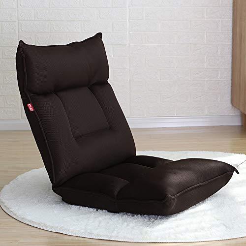 Faule Couch Erker-fensterstuhl,Tatami Faltbare Single Small Sofa Bett Schlafsaal Computer Balkon Schlafzimmer Balkon Bodenstuhl-Dunkelbraun 115x55x13cm(45x22x5inch)