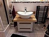 Waschtischplatte für Unterschrank, Waschtischplatte Massivholz