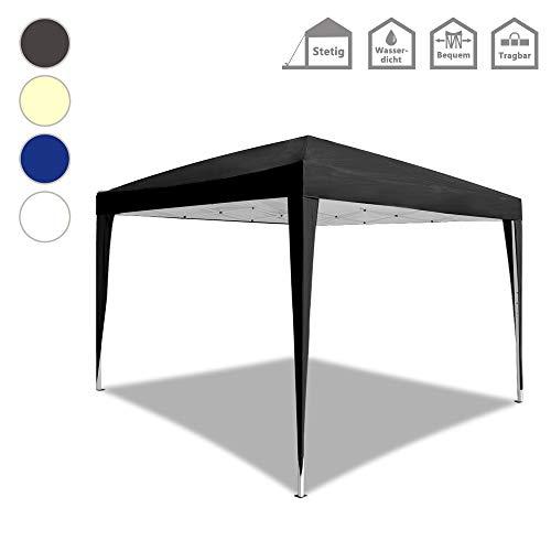 Froadp Faltpavillon 3x3m UV-Schutz - Partyzelt Pavillon mit Tasche - für Garten/Party/Hochzeit/Picknick, Anthrazit