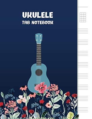 """Ukulele Tab Notebook: Blank Ukulele Tablature Notebook, 8.5\""""x11\"""", 110 Pages"""