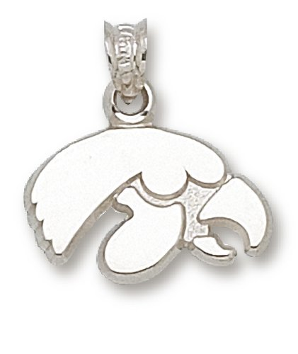 NCAA University of Iowa Sterling Silver Tiger Hawk Pendant by Logo Art