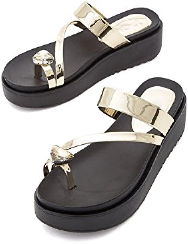 DHG Sandali estivi, Pantofole da da da donna alla moda, Sandali piatti casual, Sandali con tacco basso a tacco basso... | Economico E Pratico  a1d305