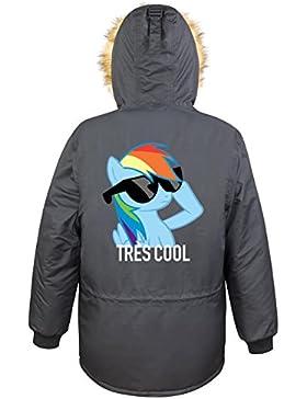 Très Cool Pony Parka Girls Nero Certified Freak