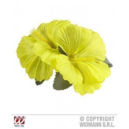 Lively Moments Kostümzubehör Hawaii - Girl Haarspange mit Zwei gelben Blüten Hibiskusblüten
