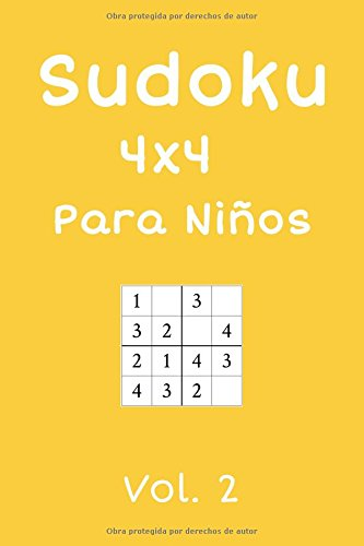 Sudoku 4x4 Para Niños: 240 Sudokus, Vol. 2 por Louisa Sánchez