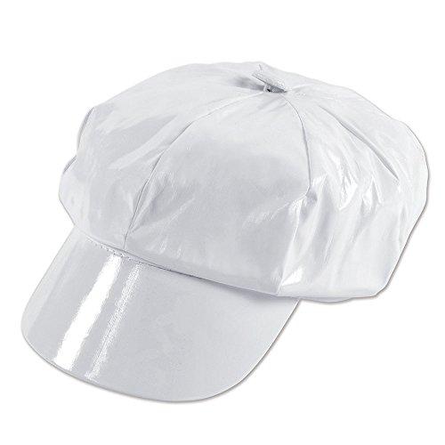 Bristol Novelty bh344C weiß glänzend PVC hat, Damen, one size (1970's Disco Kostüm)