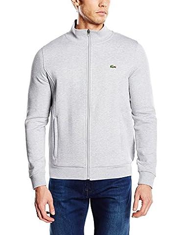 Lacoste Sport Herren Sh7616 Sweatshirt, Grau (Argent Chiné), Large (Herstellergröße: 5)