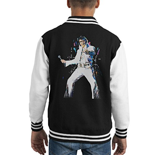 Sidney Maurer Original Portrait Of Elvis Presley Kid's Varsity Jacket (Elvis Presley Jacke)