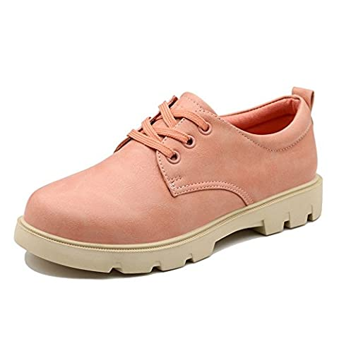 Guciheaven Women's Enticing Artificial Leather Round Mouth Chukka Boots