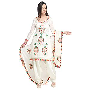 EthnicJunction Women's cotton Dress Material
