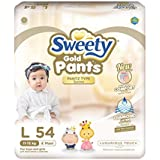 Sweety Fit Pantz Gold Series Baby Large Diapers, Super Jumbo Pack, Count 54