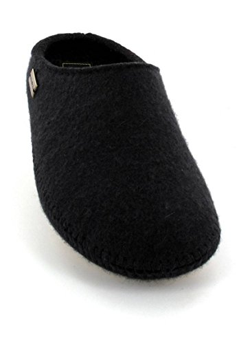 Haflinger  411006, Chaussons mixte adulte Black - Black