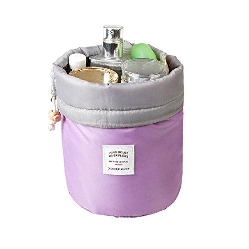 Covermason Trousses de Toilette Trousses à maquillage Vanity Beauty Case Nylon Drawstring Sac de Voyage Sacs de Lavage Sac de Rangement Organisateur de Maquillage Sac (23x17x10cm, Violet)