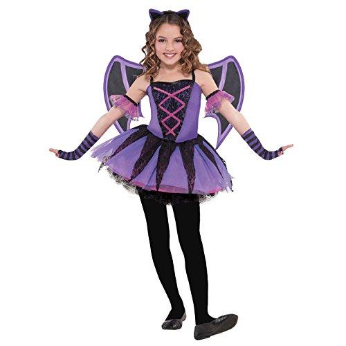 Mädchen Ballerina-Fledermaus Kostüm Halloween Fasching Flügel Haarreif im Lieferumfang enthalten -