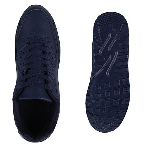 Herren Sportschuhe Laufschuhe Sneakers Runners Profilsohle Dunkelblau Dunkelblau
