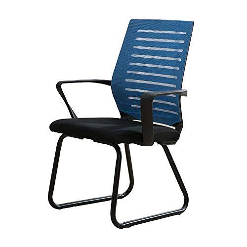 Möbelsets-LX Bürostuhl Konferenzstuhl Mesh Atmungsaktives Schaumkissen Ergonomischer Schreibtischstuhl Computer Stuhl 46x47x94cm (Farbe : Blau)