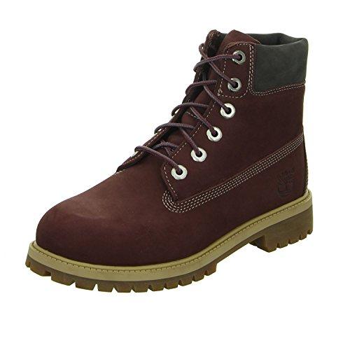 TIMBERLAND Damen 6 Inch Junior Boots rot 37 (Damen Boot-rot Timberland)
