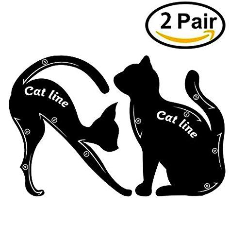 Cat Eyeliner Stencil Template Modèle de matériau en PVC, professionnel Reproductible Eyeliner Modèle de plaque en forme de chat Eyeliner Guide Template