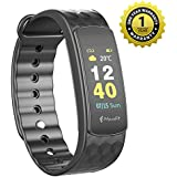 MEVOFIT Bold HR - Best Fitness Tracker Watch For Swimming, Athletes & Sports PRO | Activity Tracker Swim | Fitness Band | Rugged Swim Proof | Fitness Tracker With Heart Rate & Big Color Display