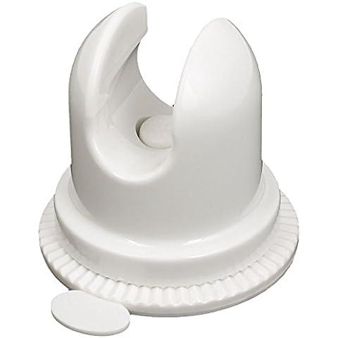 Baño Cabezal De Ducha Soporte Ventosa Soporte Pared Acoplables Blanco