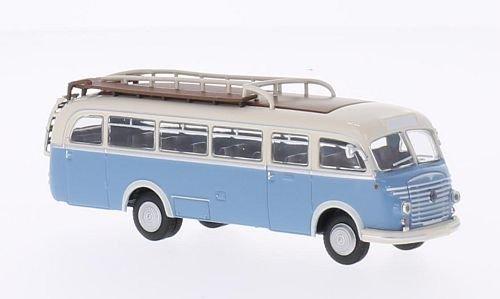 Steyr 480 A Bus, weiss/blau, 1956, Modellauto, Fertigmodell, Brekina Starline 1:87