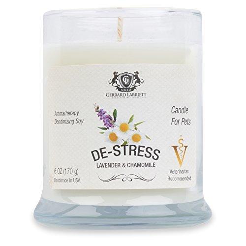 Lavender & camomilla aromaterapia deodorante soy candle per gli animali domestici, candele profumate, pet odor eliminator & animal lover gift
